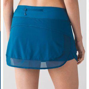 Lululemon Blue Hotty Hot Skirt II Size 12 NWT